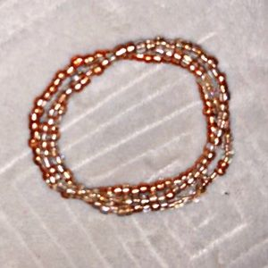 Copper Hand Beaded Bracelet Set